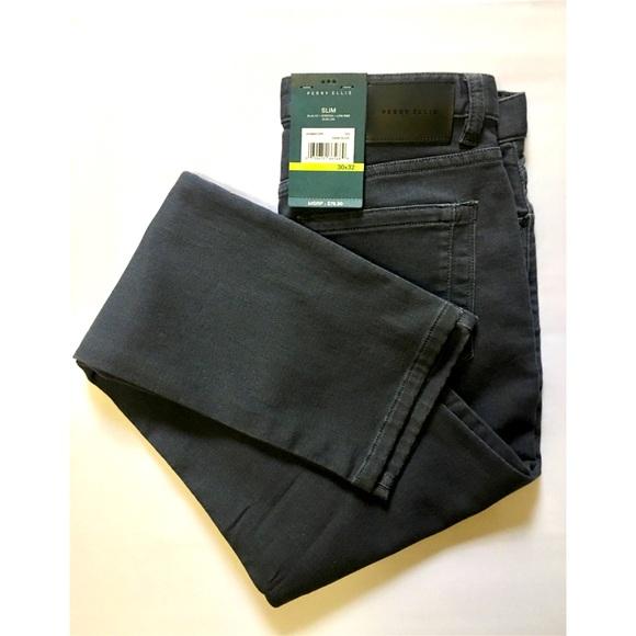 Perry Ellis Travel Luxe Dress Pants Stretch No Iron 36x30 36x34 Navy Blue NWT